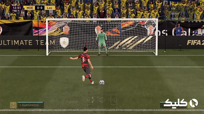پنالتی زدن در FIFA 21