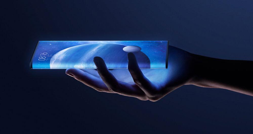 گوشی رول شونده شیائومی با نمایشگر قابل گسترش از هر دو طرف