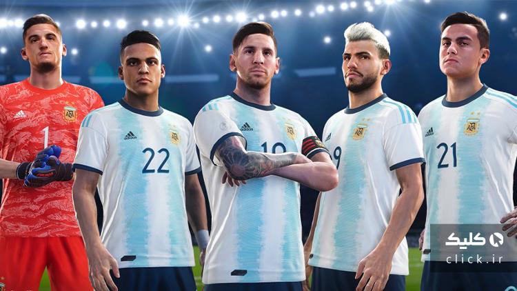 لیونل مسی با لباس تیم ملی آرژانتین