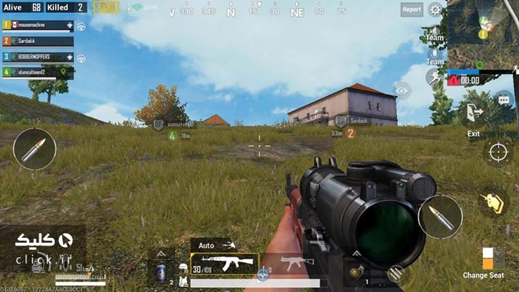 نمایی از محیط بازی پابجی موبایل