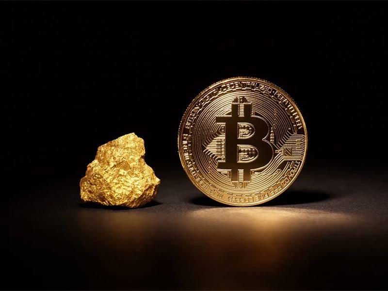 رابطه معکوس طلا بیت کوین