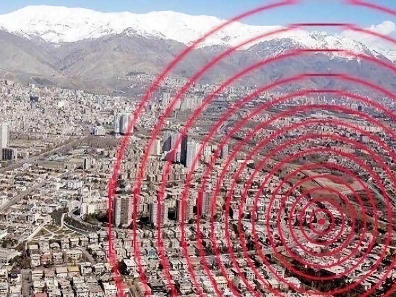 زمین لرزه در شرق تهران