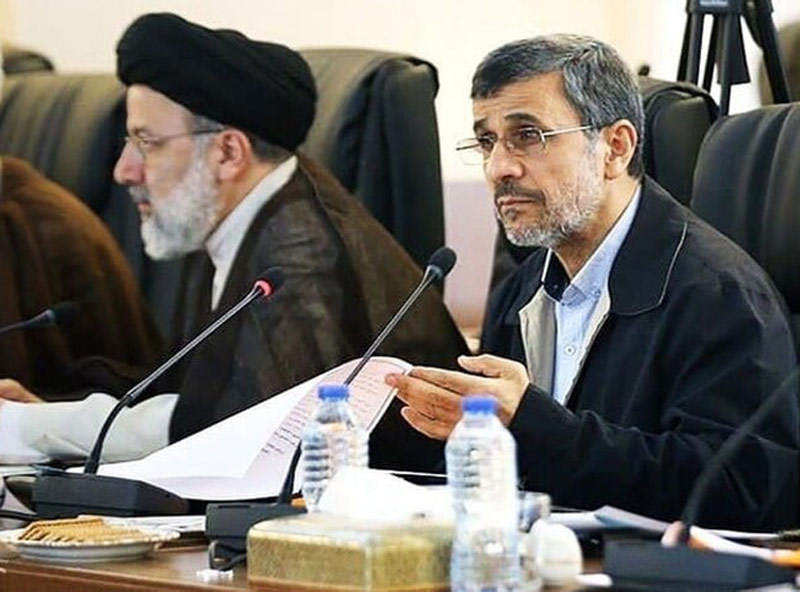 شاهکار احمدی نژاد هدیه به رییسی