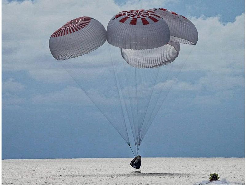 بازگشت ۴ فضانورد اسپیس ایکس به زمین