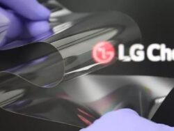 روکش نمایشگر انعطاف پذیر ال جی به سختی شیشه است