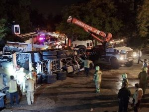 تصادف کامیون خیابان ولنجک