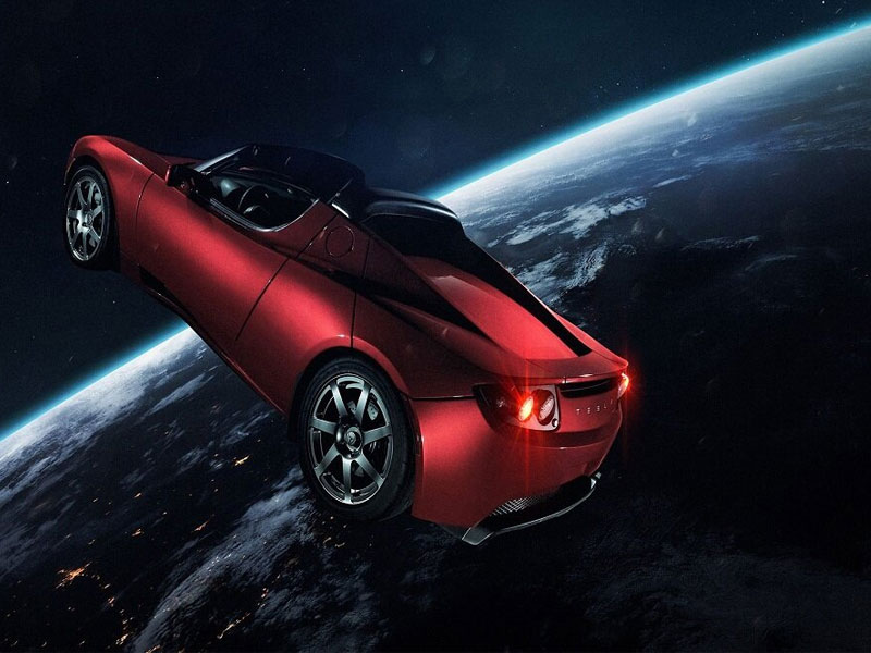 خودرو تسلا در مریخ