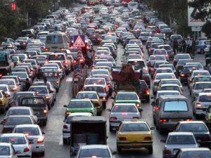 ترافیک سنگین در تهران پس از تعطیلی پمپ بنزینها